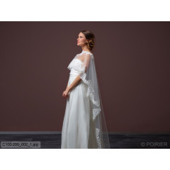 Soft Tulle Cape With Train C100-200
