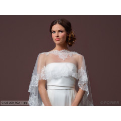 Soft Tulle Cape With Train C123-200
