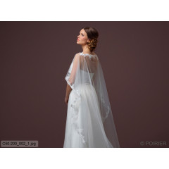 Soft Tulle Cape With Train C50-200