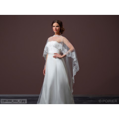 Soft Tulle Cape With Train C90-200