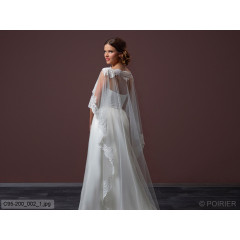 Soft Tulle Cape With Train C95-200
